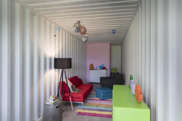 Coming home to a shipping container
